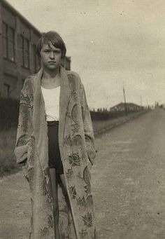 Girl at the tracks, c1930