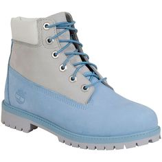 Timberland Women's Premium 6-Inch Light Blue Limited Edition Boot (230 BGN) ❤ liked on Polyvore featuring shoes, boots, blue, lacing boots, timberland shoes, lace up shoes, timberland footwear and waterproof shoes
