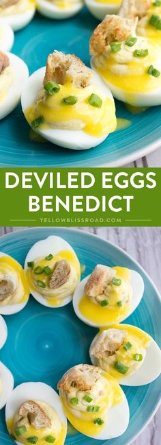 Deviled Eggs Benedict - The best brunch and appetizers food combined into one awesome snack!
