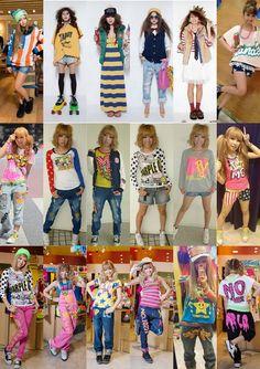 ! ♥ MoeKyuna ♥ !: Amekaji - nierealistyczny obraz Ameryki Gyaru Fashion, Harajuku Fashion, Grunge Fashion, Fashion Outfits, Harajuku Style, Womens Fashion, Asian Street Style, Tokyo Street Style, Street Style Women