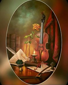 Cut butterflies out of old book and scatter (stick) across your wall! Violin Art, Violin Music, Oil Painting On Canvas, Painting & Drawing, Watercolor Paintings, Musik Wallpaper, Violin Photography, Beautiful Drawings, Oeuvre D'art