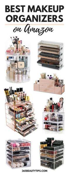 Trendy Makeup Organization Diy Storage Make Up Organisation Ideas Diy Makeup Organizer, Make Up Organizer, Makeup Storage Organization, Make Up Storage, Diy Storage, Storage Ideas, Storage Boxes, Storage Organizers, Bathroom Storage