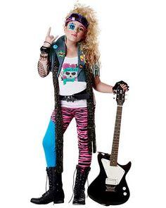 Girl's Glam Rocker Costume   Girls Costumes 80's Costumes Halloween Costumes