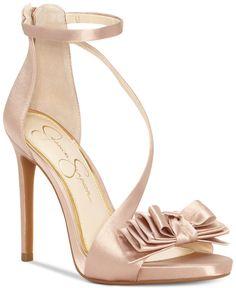 Jessica Simpson Remyia Satin Dress Sandals - All Women& Shoes - Shoes - Mac. Bridal Shoes, Wedding Shoes, Cute Shoes, Me Too Shoes, Shoe Boots, Shoes Heels, High Heels, Pink Shoes, Converse Shoes