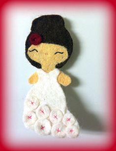 Flameco Dancer Hair Clip by PrincessHair on Etsy, $4.00