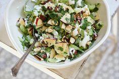 Heirloom Apple Salad Apple Recipes, Veggie Recipes, Lunch Recipes, Salad Recipes, Cooking Recipes, Healthy Recipes, Healthy Salads, Drink Recipe Book, Arugula Recipes