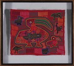 Panamanian handsewn mola art panels (5pcs)