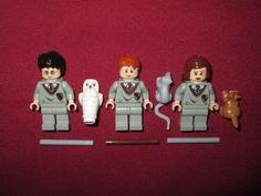 LEGO-Harry-Potter-minifigures-LOT-Harry-Ron-Hermione-Hedwig-Scabbers-Crookshanks