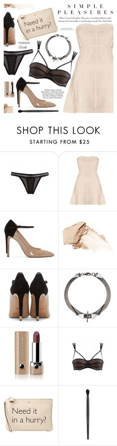 """""""Show Your Passion"""" by pokadoll ❤ liked on Polyvore featuring Maison Close, Hervé Léger, Maison Margiela, NARS Cosmetics, Fenton, Marc Jacobs, Anya Hindmarch, Bare Escentuals, polyvoreeditorial and polyvorefashion"""