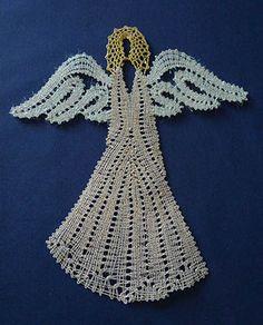 nové soutěže Christmas Crafts, Christmas Decorations, Xmas, Crochet Angels, Lace Heart, Lace Jewelry, Bobbin Lace, String Art, Lace Detail