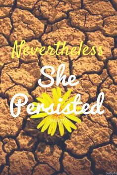 Nevertheless She Persisted. My mini-meltdown last Thursday has gotten me thinking about fear and persistence in my life. @suzlyfe http://suzlyfe.com/therapy-thoughts-fear-persistence/