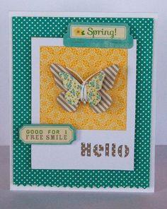 Hello Spring Card by Kimber McGray via Jillibean Soup Blog