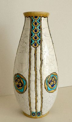 Charles Catteau could be regarded as one of the most versatile ceramic artists of his generation, especially for the style of Art Deco. Catteau advanced the forms, techniques and decoration of modern ceramics, creating an exceptionally original, new and decorative genre.