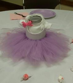 Ballerina tutu centerpiece for baby shower
