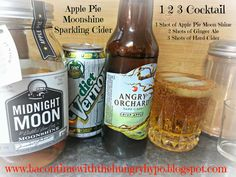 Bacon Time With The Hungry Hypo: Apple Pie Moonshine Sparkling Cider AKA 1 2 3 Cocktail