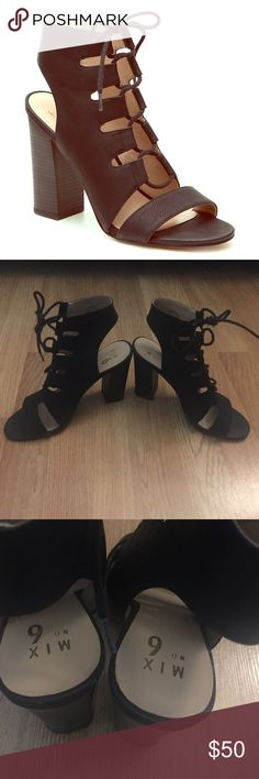 Selling this Lace Up Heels on Poshmark! My username is: leahdae. #shopmycloset #poshmark #fashion #shopping #style #forsale #Mix No. 6 #Shoes