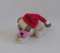 Amigurumi-Hund selber häkeln - Weihnachtsdeko