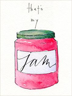that's my jam! love Flourish & Whim's lettering