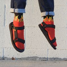 Ember - Worn Well: Socks and Sandals, Part I Socks And Sandals, Sandals Outfit, Types Of Sandals, Street Fashion, Mens Fashion, Cool Socks, My Collection, Sock Shoes, Stylish Men