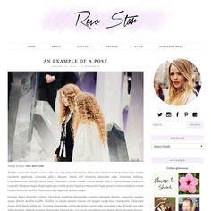 Beautiful Wordpress template! #lilac #blog