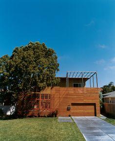 wood slat house