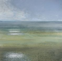 A mouthful of wild damsons, a seal watches me and a skein of geese and three swans and a skylark on the mouth of the Thames 2005 in KURT JACKSON, The Thames Revisited Exhibition, January Redfern Gallery Sky Painting, Abstract Landscape Painting, Landscape Art, Landscape Paintings, Abstract Art, Kurt Jackson, Fireplace Art, St Just, Historia Natural
