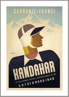 Kandahar Chamonix France Ski Poster