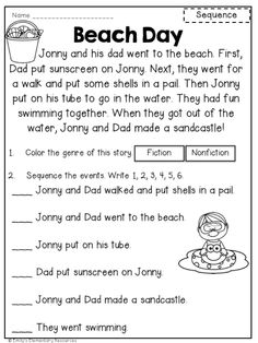 Reading Worksheets For Kids Activities First Grade Reading Comprehension, Phonics Reading, Reading Comprehension Worksheets, Reading Passages, Kindergarten Reading, Comprehension Strategies, Reading Response, 3rd Grade Reading, Kindergarten Teachers