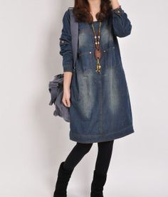 Denim dress Denim shirt Denim tops Jean dress by PerfectChlothing, $65.00