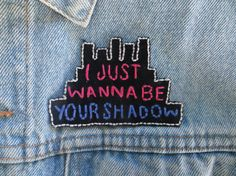 The Wombats Be Your Shadow Patch by greenghostshop on Etsy #music #handmade