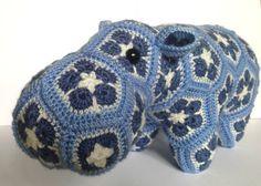 Happypotamus the Happy Hippo // Crochet // by PinkPoppyShoppe, $75.00