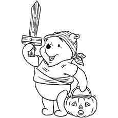 Pooh Pirates Halloween Costume Disney Coloring Pages  Kids