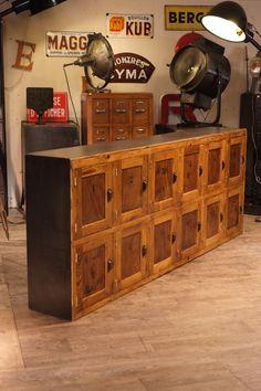 meuble de metier ancien casier d'école