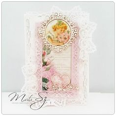 Shabby card from Marta using products from www.scrapandcraft.co.uk
