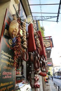 Cured meat shop downtown Athens
