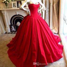 Discount Most Popular Sweetheart Ball Gown Red Prom Dresses Pleat Sweep Train Corset Bodice Sexy Prom Dress Ball Gown Cheap Uk Sweet 16 Quinveanera Online with $111.96/Piece | DHgate