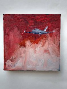 "This is ""Red Skys"" an original acrylic painting on canvas by JLF. Acrylic Art, Acrylic Painting Canvas, Airplane Painting, Flamingo Painting, Aircraft Painting, Art Camp, Tape Measure, Knowing God, 6 Inches"
