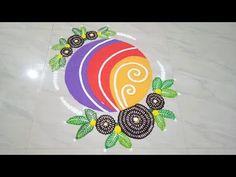 Unique Rangoli Design using Chalni - YouTube