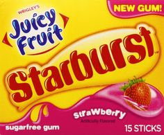 I'm learning all about Wringley's Juicy Fruit Starburst Strawberry Gum at @Influenster!