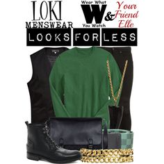 Another Wear What You Watch & Your Friend Elle Collaboration! A Look For Less Inspired by Tom Hiddleston as Loki in films for Marvel Studios.