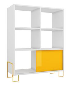 White & Yellow Boden Mid-High Side Stand #zulily #zulilyfinds