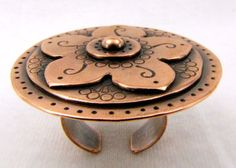 Copper Ring Adjustable Copper Ring Riveted Ring Ethnic by Cuprum29, $135.00 #group2020 #Lehane #handmade