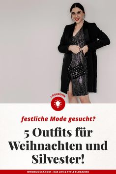 Contains # for - fashion - Kleider Christmas Look, Christmas Fashion, German Fashion, Fashion Group, All About Fashion, Outfit Of The Day, Sequin Skirt, Diy Silvester Outfit, Fashion Trends