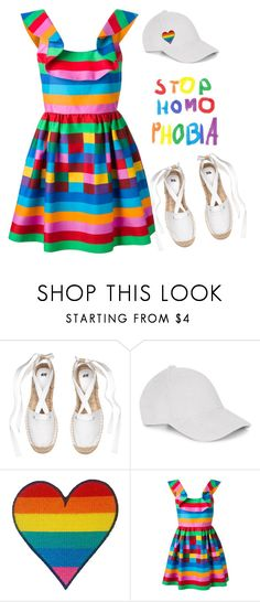 """Stop homophobia"" by bubblegum59 ❤ liked on Polyvore featuring Le Amonie, Valentino and pride"