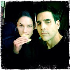 Missy Peregrym and Ben Bass. Rookie Blue.