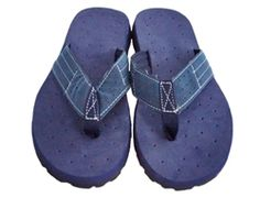 Blue Shower Footwear For College - Cushion-Relax Shower Sandals - Blue