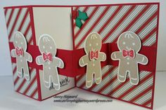 Z-Fold card using the Cookie Cutter Christmas set in the new Holiday Catalogue.  Tutorial included. #stampinupchristmas2016