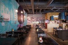 diseño gráfico planos materiales en juego  ilustración  bar cafetería restaurante  Chico's restaurant by Amerikka Design Office Ltd., Espoo   Finland hotels and restaurants