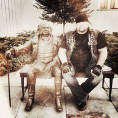 "Stan Ellsworth of ""American Ride"" with former President, Martin Van Buren"