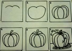 Calling All Sleepyheads: Drawing and Painting Pumpkins
